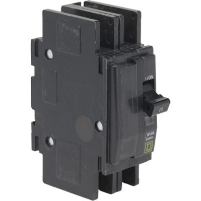 Square D by Schneider Electric QOU2105283 QOU2105283 SQD Mini circuit breaker, QOU, 10A, 2 pole, 120/240 VAC, 10kA, ring terminal
