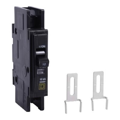 Square D by Schneider Electric QOUR1105283 QOUR1105283 SQD Mini circuit breaker, QOU, 10A, 1 pole, 120/240 VAC, 10kA, field reversible lugs, ring terminal