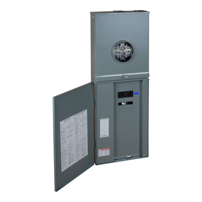 Square D by Schneider Electric RC816F200SS RC816F200SS SQD Meter mains, Homeline, combination service entrance, ringless socket, 200A, outdoor surface mount, maximum 8 spaces, 16 circuits, no bypass