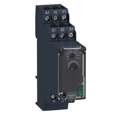 Square D by Schneider Electric RE22R1ACMR RE22R1ACMR SQD Modular timing relay, 8 A, 0.05 s300 h, 1 CO, on delay and off delay, 24...240 V AC/DC