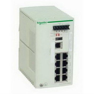 Square D by Schneider Electric TCSESM083F23F0 Schneider Electric / Square D TCSESM083F23F0 ConneXium Ethernet TCP/IP Managed Switch; 8-Port, 35 mm Symmetrical DIN Rail Mount