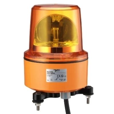 Square D by Schneider Electric XVR13B05L XVR13B05L SQD Rotating beacon, 130 mm, orange, without buzzer, 24 V AC DC