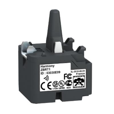 Square D by Schneider Electric ZBRT1 Schneider Electric / Square D ZBRT1 Wireless and Batteryless Transmitter; 5 Mega-Hz, 22 mm Fixing Screw Beneath Head, Plastic Bezel, White Flush Operator