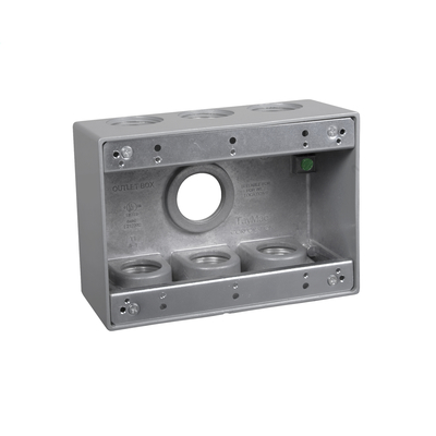 TayMac TB7100S TB7100S RACO 3G WP BOX (7) 1 IN. OUTLETS - GRAY
