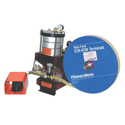 Thomas & Betts (T&B) 12050 Thomas & Betts 12050 Bench Mount Pneumatic Auto-feed Crimp Tool; 90 - 125 psi, 26-10 AWG