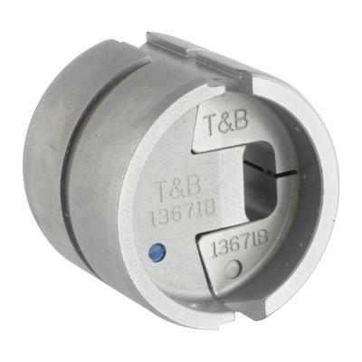 Thomas & Betts (T&B) 13671B Thomas & Betts 13671B 4 ton Dragon Tooth® Hydraulic Tool Die; Steel Alloy, Silver