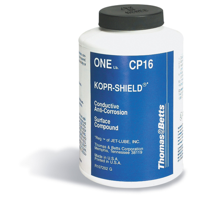 Thomas & Betts (T&B) CP16 Thomas & Betts CP16 Kopr-Shield™ Joint Compound With Brush; 16 oz Can, Copper