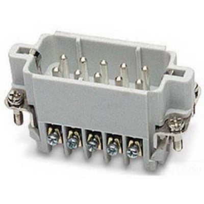 Thomas & Betts (T&B) MS204A Thomas & Betts MS204A Pos-E-Kon™ A Series Small Compact Size Male Pin Insert; 10 Amp, 600 Volt AC, 4 + Ground Contact