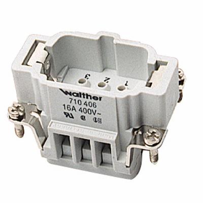 Thomas & Betts (T&B) MS210B Thomas & Betts MS210B Pos-E-Kon™ B Series Standard Size Male Pin Insert; 16 Amp, 600 Volt AC, 10 + Ground Contact
