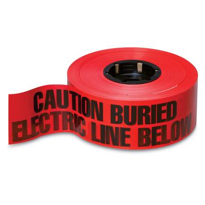 Thomas & Betts (T&B) NA-0600 Thomas & Betts NA-0600 E-Z-Code® Buried Utility Tape; Black On Red