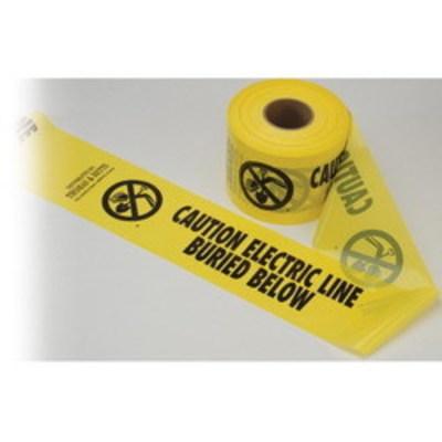 Thomas & Betts (T&B) YT6 Blackburn / Elastimold YT6 Underground Warning Tape; Polyethylene, Yellow, 1000 ft L x 6 Inch W x H x T, Caution Buried Electric Line Below