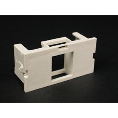 Wiremold  CM2-U1KEYA Wiremold CM2-U1KEYA CM Series 2A Single Flush Mount Unloaded Keystone Module; Ivory, Plastic