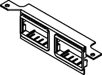 Wiremold  DTB-2-4TKO Walker DTB-2-4TKO Data Brkt W4 Rj Ko