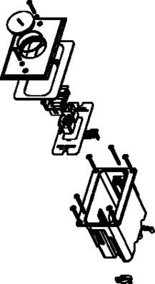 Wiremold  WMFB1KS2N WMFB1KS2N WALKER 1-GANG 2 KEYSTONE