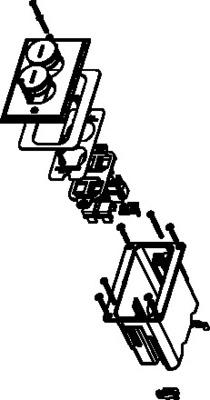 Wiremold  WMFB1KS4N WMFB1KS4N WALKER 1-GANG 4 KEYSTONE