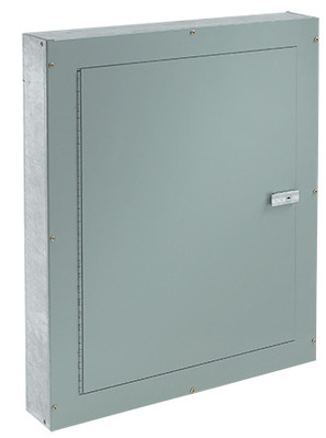 nVent HOFFMAN ATC10104F Hoffman ATC10104F Telephone Cabinet; NEMA 1, Flush, 10 Inch x 4 Inch x 10 Inch, 16/14/12 Gauge Galvanized Steel Body, Mild Steel Door, ANSI 61 Gray, Polyester Powder Paint on Front