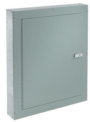 nVent HOFFMAN ATC24244F Hoffman ATC24244F Telephone Cabinet; NEMA 1, Flush, 24 Inch x 4 Inch x 24 Inch, 16/14/12 Gauge Galvanized Steel Body, Mild Steel Door, ANSI 61 Gray, Polyester Powder Paint on Front