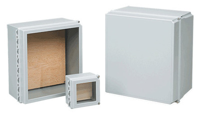 nVent HOFFMAN D664CHSCFGWP Hoffman D664CHSCFGWP Type 4X WiFi Cabinet With Window Door; NEMA/EEMAC Type 4, 4X, 12, and 13, 6.5 Inch x 4 Inch x 6.5, Fiberglass, Light Gray