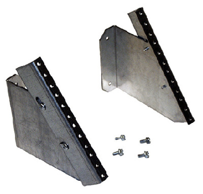 nVent HOFFMAN DBPRA4U Hoffman DBPRA4U D-Box™ Self-Grounding Rack Angle Patch Panel; Galvanized