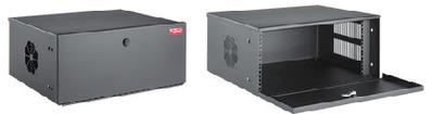 nVent HOFFMAN DVR6U Hoffman DVR6U Security Dvr Type 1 Equipment Cabinet; Wall Mount, 6-Rack Unit, Black