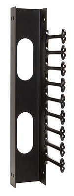 nVent HOFFMAN E19C25U Hoffman E19C25U Versarack™ Swing Out Rack Cable Manager; Vertical Wall Mount, 25-Rack Unit, RAL 9005 Black Textured and Low Gloss Polyester Powder Paint