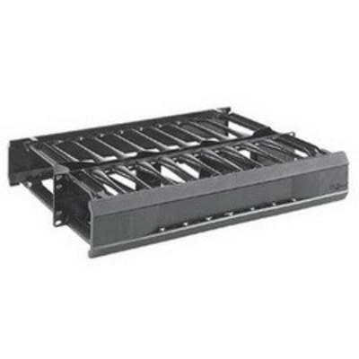 nVent HOFFMAN EC3D7 Hoffman EC3D7 CableTek™ Double-Sided Vertical Cable Manager; 45-Rack Unit, 14 Gauge Steel Channel, Aluminum Front Cover, RAL 9005 Black, Low-Gloss Light Textured Powder-Coated