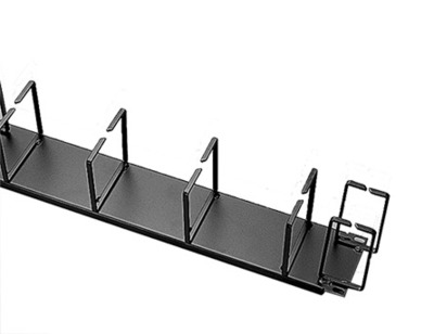 nVent HOFFMAN ECK19H Hoffman ECK19H Horizontal Cable Manager; 2-Rack Unit, Steel, RAL 9005 Black, Polyester Powder