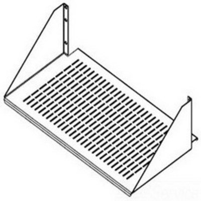 nVent HOFFMAN ESH19V Hoffman ESH19V Fixed Relay Single-Sided Vented Shelf; Front/Rear Mount, 3-Rack Unit, Black