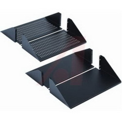 nVent HOFFMAN ESHD19 Hoffman ESHD19 Double-Sided Solid Shelf; Center Mount, 3-Rack Unit, Textured Black