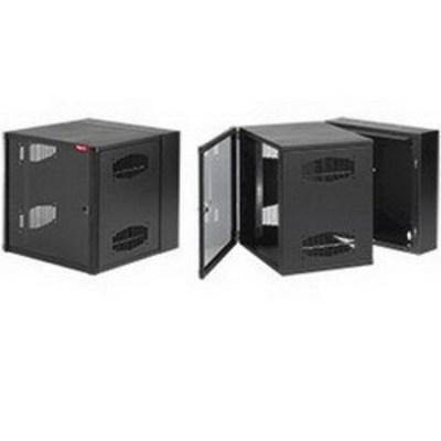 nVent HOFFMAN EWMW362430 Hoffman EWMW362430 Accessplus II Type 1 Window Door Double-Hinged Data Cabinet; Wall Mount, 19-Rack Unit, Black