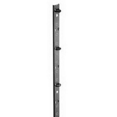 nVent HOFFMAN NVCMTD21 Hoffman NVCMTD21 Net Series Vertical Tie-Down Cable Manager; Steel, RAL 9005 Black, Polyester Powder Paint