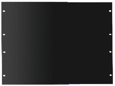 nVent HOFFMAN P19RPP6UB Hoffman P19RPP6UB Panel; Rack Mount, 6-Rack Unit, RAL 9005 Black Polyester Powder Paint