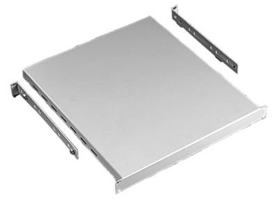 nVent HOFFMAN P19SH68B Hoffman P19SH68B Adjustable Depth Fixed Solid Shelf; Rack Mount, RAL 9005 Black