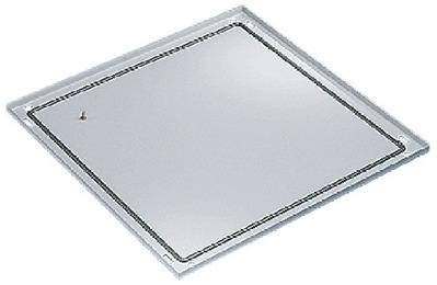 nVent HOFFMAN PB088 Hoffman PB088 Proline™ Solid Base; 31.460 Inch Width x 0.690 Inch Depth x 29.880 Inch Height, 14 Gauge Steel, Textured RAL 7035 Light Gray, Polyester Powder Paint