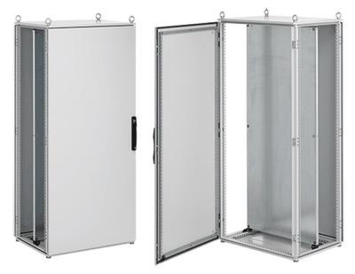 nVent HOFFMAN PP2086 Hoffman Pentair PP2086 Proline™ Single Door Modular Industrial Package Enclosure; 800 mm Width x 600 mm Depth x 2000 mm Height, Steel, RAL 7035 Light Gray, Surface Mount