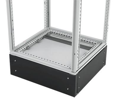 nVent HOFFMAN PPB2165 Hoffman PPB2165 Proline™ 200-mm Plinth Base; 62.950 Inch x 7.090 Inch x 18.070 Inch, Cast Aluminum Corner Support, 16 Gauge Steel Panel, Polyester Powder Paint
