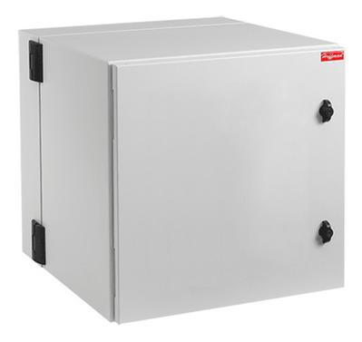 nVent HOFFMAN PTHS242415G4 Hoffman PTHS242415G4 Protek Solid Door Double-Hinged Cabinet; Wall Mount, 12-Rack Unit, RAL 7035 Light Gray