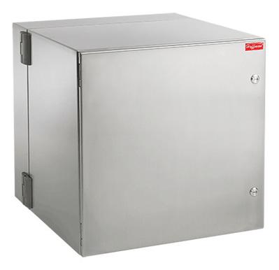 nVent HOFFMAN PTHS242428G4A Hoffman Pentair PTHS242428G4A Protek™ Cabinet; 24 Inch x 24 Inch x 28 Inch, 12-Rack Unit, Wall Mount, 304 Stainless Steel, RAL 7035 Light Gray