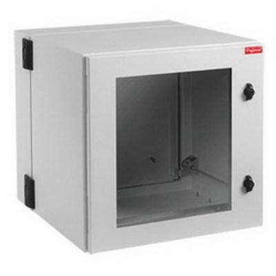nVent HOFFMAN PTHW362424G2 Hoffman PTHW362424G2 Protek Window Door Double-Hinged Cabinet; Wall Mount, 19-Rack Unit, RAL 7035 Light Gray