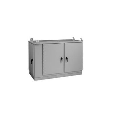 nVent HOFFMAN T507030PM5 Hoffman Pentair T507030PM5 5 Door Cabinet OPAL DSL OSP Cabinet; 70 Inch Width x 30 Inch Depth x 50 Inch Height, 22-Rack Unit, Pad Mount, Type 5052-H32 Aluminum, RAL 7035 Light Gray