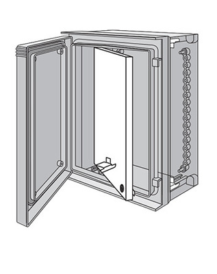 nVent HOFFMAN UU6060SP Hoffman UU6060SP Swing-Out Panel; Steel, White, Fits 24.610 Inch x 24.090 Inch